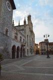 Duomo Como przy półmrokiem Zdjęcie Stock
