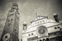 Duomo of Cremona city Italy Stock Images