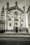 Duomo of Cremona south facade Stock Images