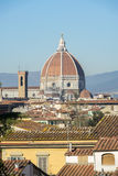 Duomo - de Kathedraalkoepel van Brunelleschi ` s in Florence royalty-vrije stock foto's