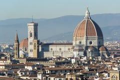 Duomo - de Kathedraalkoepel van Brunelleschi ` s in Florence stock foto's
