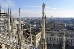 Duomo de la catedral en Milán, Italia Foto de archivo libre de regalías