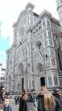 Duomo de la construcción fantástica de la tarde de Florencia en mármol fotografía de archivo