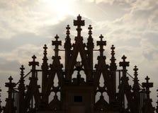 Duomo de Milan, détail du dessus de toit Image stock