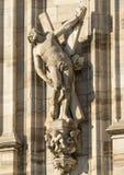 Duomo de Milano, estatuas Imágenes de archivo libres de regalías