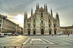 Duomo de Milano, Italia Foto de archivo libre de regalías
