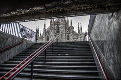 Duomo de Milano, Italia imagen de archivo