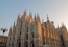 Duomo della cattedrale di Milano Fotografie Stock