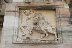 Duomo della cattedrale di Milano, cupola, assalone assassinata Fotografia Stock Libera da Diritti