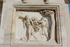 Duomo della cattedrale di Milano, cupola, mazzo della terra di promessa Fotografia Stock