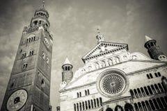 Duomo della città Italia di Cremona immagini stock