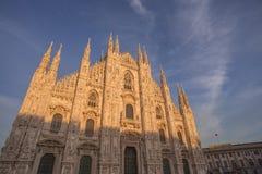 Duomo della facciata di Milano Immagini Stock Libere da Diritti