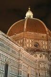 Duomo di Firenze entro Night Immagine Stock Libera da Diritti