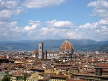 Duomo di Firenze n.2. View of the historical centre of Florence with the famous Dome Stock Images
