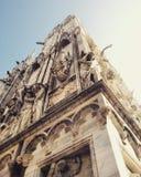 Duomo di Mediolan, Włochy, dzień Obrazy Royalty Free