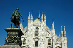 Duomo di Milano. Milan Cathedral (Italian: Duomo di Milano; Milanese: Domm de Milan) is the cathedral church of Milan in Lombardy, northern Italy. It is the seat Royalty Free Stock Photography