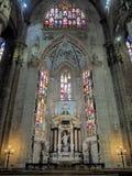 Duomo di Milano Altar. Altar in Duomo di Milano cathedrale, Milan, It Stock Photo