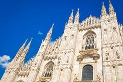 Duomo di Milano. Architectural detail of the famous Milan Cathedral Duomo di Milano in Italy Stock Photos