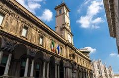 Duomo di Milano cathedral on Piazza del Duomo square, Milan, Italy stock photo