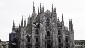 DUOMO DI MILANO. Front view Stock Images