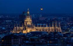 Duomo di Milano at dusk. Stock Photos