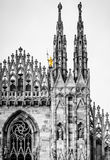 Duomo di Milano gothic cathedral church, Milan, Italy Royalty Free Stock Photo