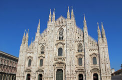 Duomo di Milano in Italy, with blue sky. Vintage looking Duomo di Milano meaning Milan Cathedral in Italy, with blue sky Stock Photo