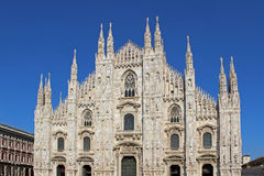 Duomo di Milano in Italy, with blue sky. Stock Photography