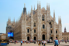 Duomo di milano. Milan Cathedral is the Cathedral in Milan, located in the historical centre of the city Stock Image