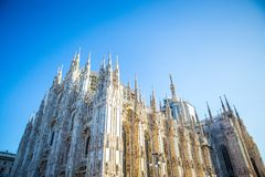 Duomo di Milano. Milan Cathedral Duomo di Milano is the cathedral church of Milan in Lombardy, northern Italy. It is the seat of the Archbishop of Milan,shot at stock photos