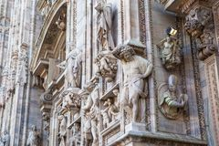 Duomo di Milano. Milan Cathedral Duomo di Milano is the cathedral church of Milan in Lombardy, northern Italy. It is the seat of the Archbishop of Milan,shot at royalty free stock photo