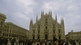 Duomo di Milano stock video footage