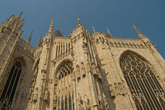 Duomo di Milano, Milan gothic cathedral church Royalty Free Stock Images