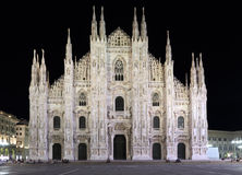 Duomo di Milano, Milan, Italy. Duomo di Milano by night (Milan Italy Royalty Free Stock Images