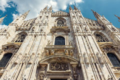 Duomo di Milano in Milan, Italy. The famous Milan Cathedral Duomo di Milano in Milan, Italy. Milan Duomo is the largest church in Italy and the fifth largest in Royalty Free Stock Photo