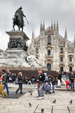 Duomo di Milano. Milan, Italy - October 15, 2016: Square with people in front of Milan Cathedral Duomo di Milano Stock Photography