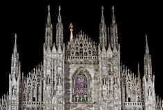 Duomo di Milano by night Stock Photo