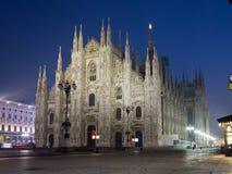 Duomo di Milano. Night view of Duomo di Milano Stock Photos