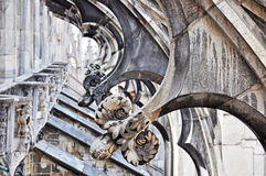 Duomo Di MIlano - Detail of the Terrace Stock Photo