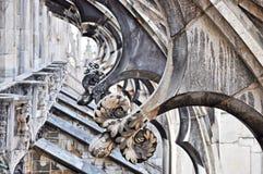 Duomo Di MIlano - Detail of the Terrace stock photo
