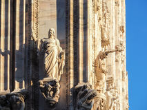 Duomo di Milano statue Royalty Free Stock Images