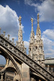 Duomo di Milato. A view from one of the most beautiful and peaceful catedrals in Europe Royalty Free Stock Photography