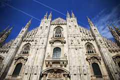 Duomo di Milato. A view from one of the most beautiful and peaceful catedrals in Europe Stock Photos