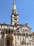 Duomo di Modena ( Italia ). View of the Cathedral of San Geminiano with the Ghirlandina Tower, Modena (Italy Stock Images