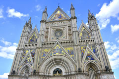 Duomo di Orvieto. The beautiful gothic Orvieto Cathedral Stock Photography