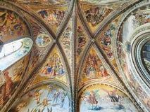 Duomo Di Orvieto Fresco Ζωγράφος Luca Signorelli στοκ φωτογραφία