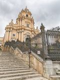 Duomo di San Giorgio, Church of St. George in Ragusa, Sicily Italy Stock Photo