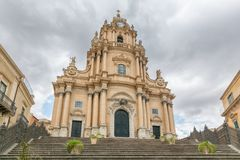 Duomo di San Giorgio, Church of St. George in Ragusa, Sicily Italy Stock Photos