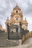 Duomo di San Giorgio, kyrka av St George i Ragusa, Sicilien Italien Arkivfoto
