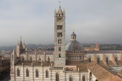 Duomo di Siena and bell tower. View from facciatone Tuscany. Italy. Stock Photo